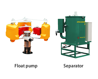 Floating oil collecting system GYP+FO